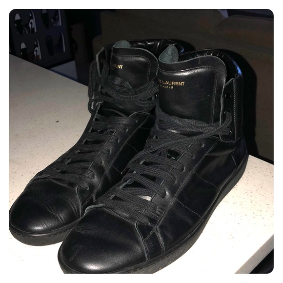 Saint Laurent Other - Saint Laurent High Too All Black Sneakers